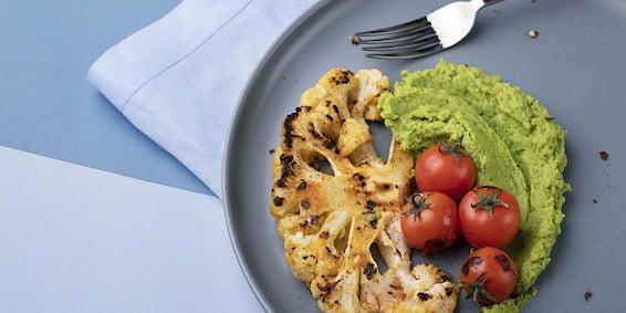 Dia Mundial Sem Carne: Couve-Flor Grelhado e Purê de Ervilha