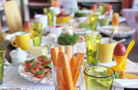 Decoração de Páscoa: Arranjo de cenouras como decoração de páscoa para mesa