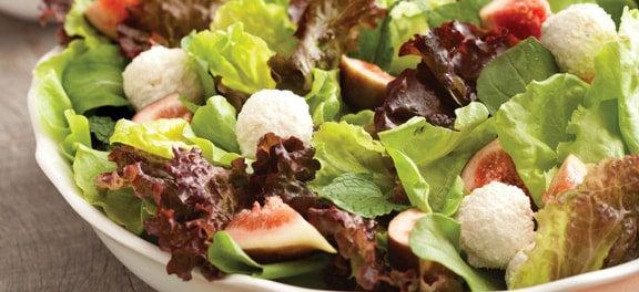 Safra de Março: Salada de Figo e Bolinhas de Ricota