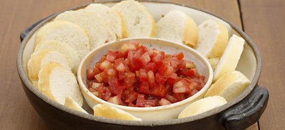 Safra de Abril: Torradas com Tomate